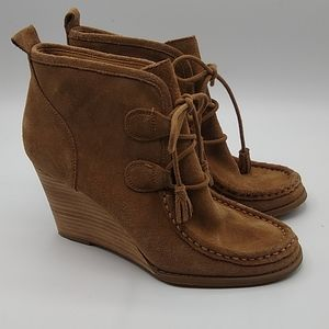 Lucky Brand Yaney leather wedge boot